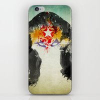 muscle iPhone & iPod Skins featuring Muscle Girl by Arian Noveir