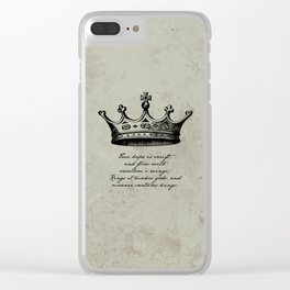 Shakespeare - Richard III - Kings it Makes Gods Clear iPhone Case