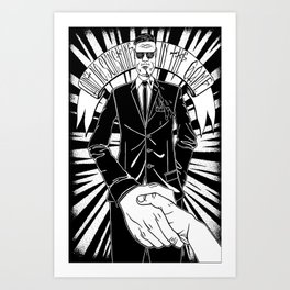 Ain't no sunshine in the game Art Print