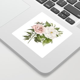 Pink Rose and Magnolia Sticker