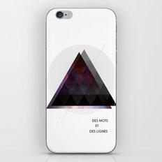 Des Mots et Des Lignes iPhone & iPod Skin