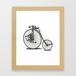 Old bicycle Framed Art Print