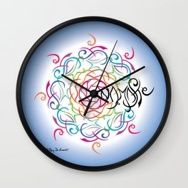 Namaste Mandala Glow - Multi White Blue Wall Clock