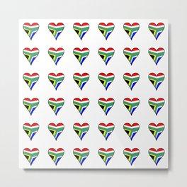 flag south africa 5,African,Afrikaans,Mandela,apartheid, Johannesburg,Soweto,Pretoria,Durban,Tembisa Metal Print