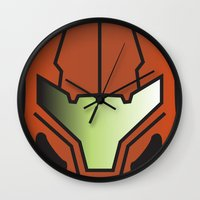 metroid Wall Clocks featuring Metroid Samus by JAGraphic
