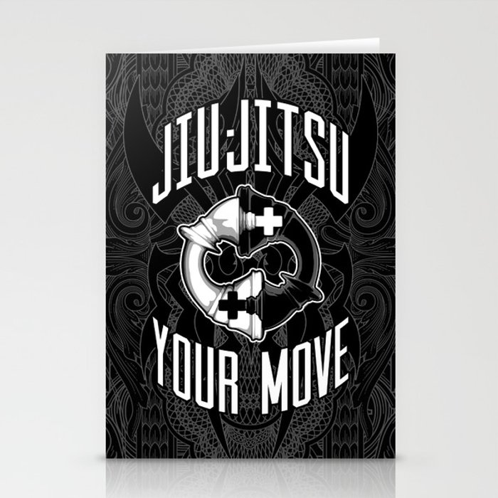 Brazilian Jiu Jitsu Chess Kings Stationery Cards By Grandeduc Society6
