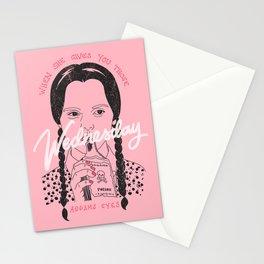 Wednesday Addams Eyes Stationery Cards