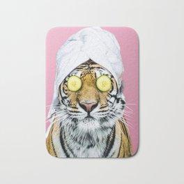 Tiger in a Towel Bath Mat