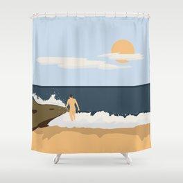 Private Beach 2 Shower Curtain