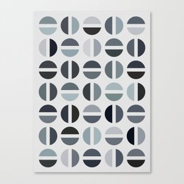 Black & White Color Combinations Canvas Print