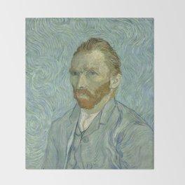 Vincent van Gogh - Self Portrait Throw Blanket