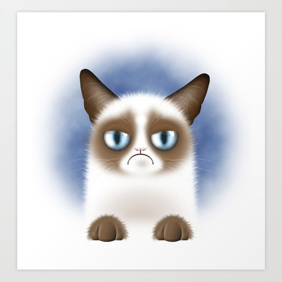 Nope (Grumpy Cat) Art Print