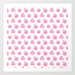 Rose Pop Pattern Art Print