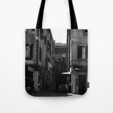 Calle Marcello b&w Tote Bag