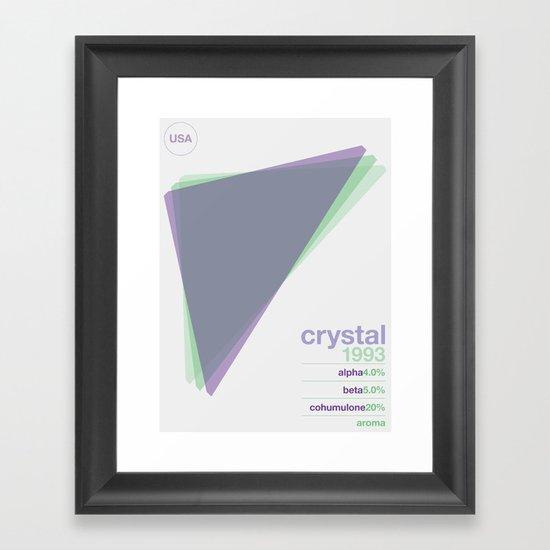crystal single hop Framed Art Print