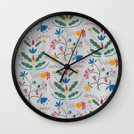 Kurbits – Bluebell – Scandinavian Folk Art Wall Clock