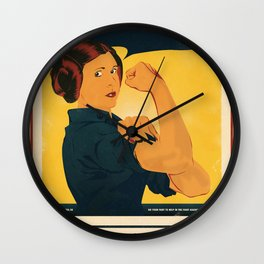 Leia the Riveter 2: The Alliance Strikes Back Wall Clock