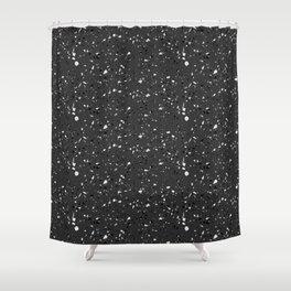 Black rubber flooring Shower Curtain