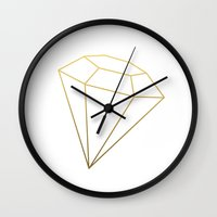 gem Wall Clocks featuring Gem by Coalesce