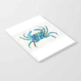Blue Crab Art by Sharon Cummings Notebook
