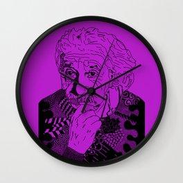Albert Einstein - lilac Wall Clock