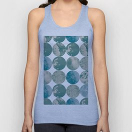 Ice circle pattern Unisex Tank Top