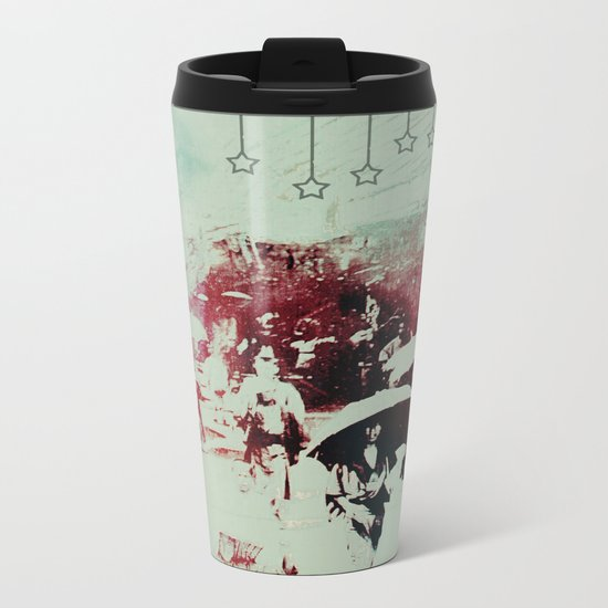 Scorched City Under False Stars Metal Travel Mug