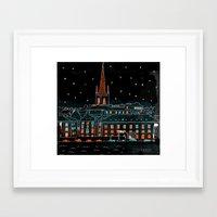 stockholm Framed Art Prints featuring Stockholm by Dobleu