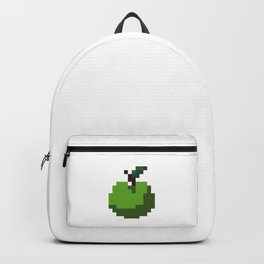 Green Pixel Apple Backpack