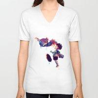 ponyo V-neck T-shirts featuring Ponyo by lauramaahs