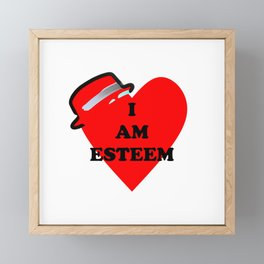 I am esteem Framed Mini Art Print