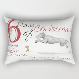 SIXTH DAY OF CHRISTMAS WEIMS Rectangular Pillow