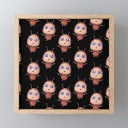 CUTE LITTLE ANT PATTERN Framed Mini Art Print