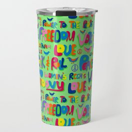 1960s Word Power Travel Mug