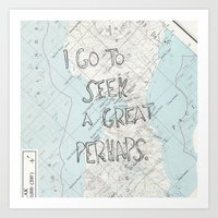 looking for alaska Art Prints featuring Looking for Alaska by Hoeroine