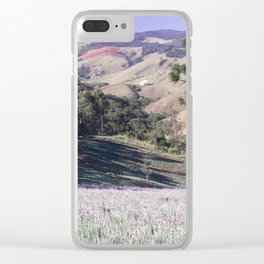 Lavenders and mountains Clear iPhone Case