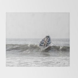 Over The Wave Throw Blanket