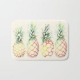 Burlap Pineapples Bath Mat