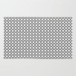 Quatrefoil Black and White Rug