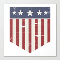 flag Canvas Prints featuring Flag by Emma Harckham