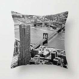 Brooklyn Bridge View - New York City Throw Pillow