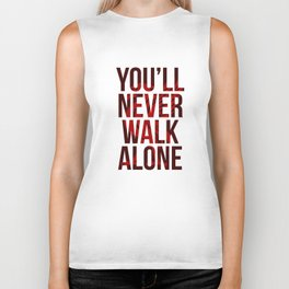 You Never Walk Alone Liverpool Poster Biker Tank