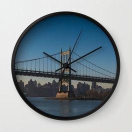 A Golden Hour in Astoria Park Wall Clock