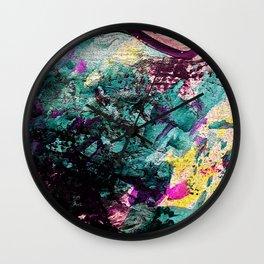Textured Graffiti Print Wall Clock