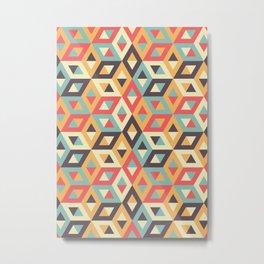 Pastel Geometric Pattern Metal Print