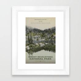 Mount Revelstoke National Park Framed Art Print