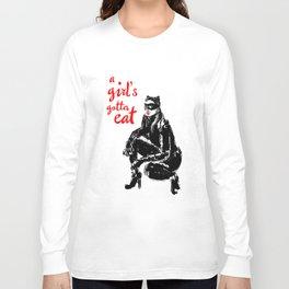 A Girl's Gotta Eat (Catwoman) Long Sleeve T-shirt