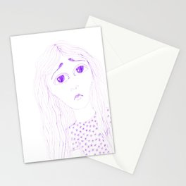 purple sadness2 Stationery Cards