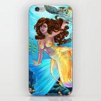daunt iPhone & iPod Skins featuring Hawaiian Mermaid by Daunt