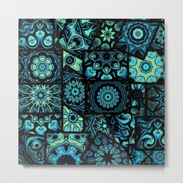 Perfect in Patches Metal Print